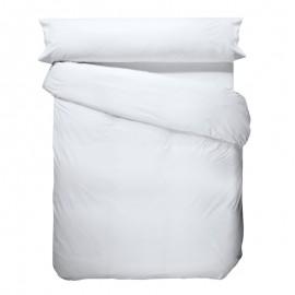 Plain organic cotton percale nordic cover