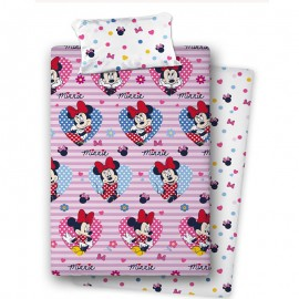 Minnie Mouse Flannel bed sheet set 90cm