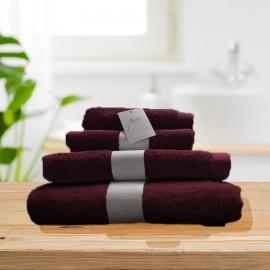 Toalla Pure burdeos 100% algodón