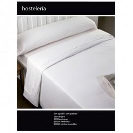 Set hotel sheets 50% cotton 50% polyester plain white