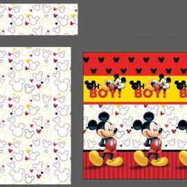 """Mickey 3"" bed sheet set 90cm"