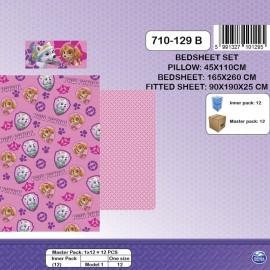 """""""Paw Patrol Pink"""" bed sheet set 90cm"""