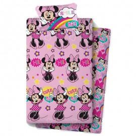"""Minnie 3"" bed sheet set 105cm"