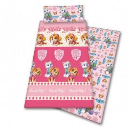 Pink Paw Patrol Help Coralina bed sheet set 90cm